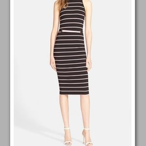 NWT HOST PICK Ted Baker Linn Striped Midi Dress